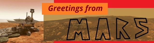 BUMPER STICKER - Greetings from Mars