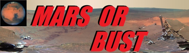 BUMPER STICKER - MARS OR BUST