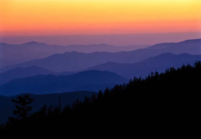 Dusk Scene, Smoky Mountains