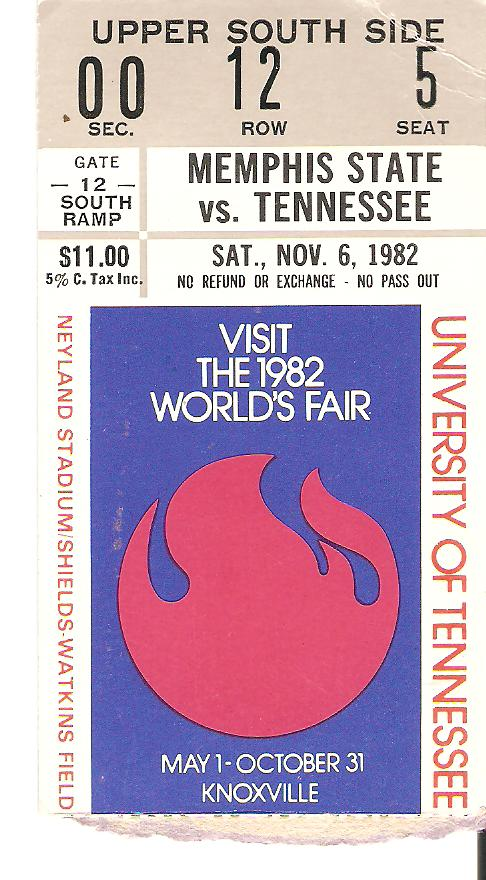 Football-ticket-UT-Memphis-State-1982-Nov-6-front