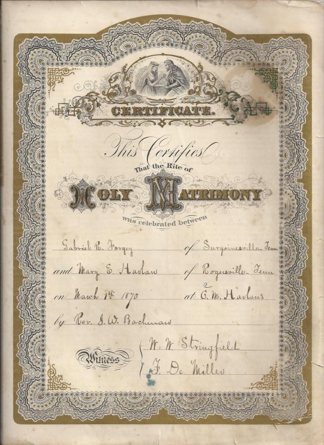 Gabriel-Forgey-Mary-Harlan-marriage-March-14-1870